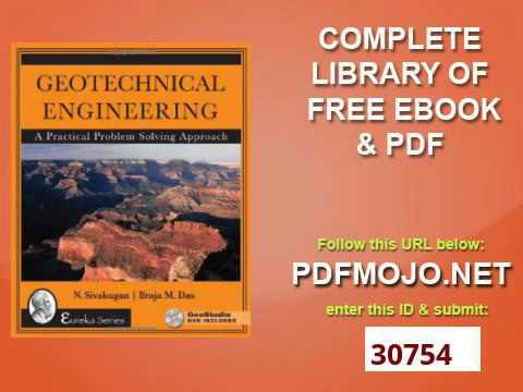 Geotechnical Engineering A Practical Problem Solving Approach Pdf