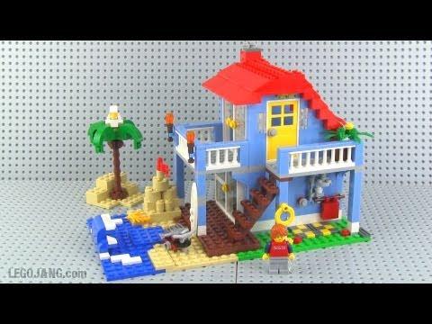 lego creator 7346 seaside house set review youtube. Black Bedroom Furniture Sets. Home Design Ideas