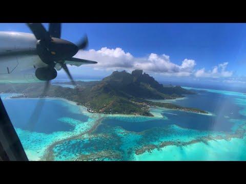 Air Tahiti 🇵🇫 Papeete PPT -  Bora Bora BOB via Raiatea RFP, ATR 72-600 [FLIGHT REPORT] 2020