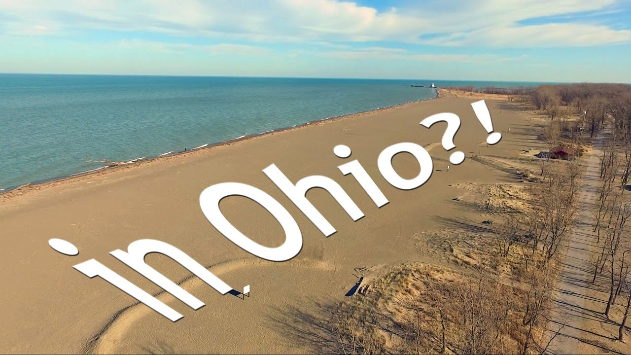 The Best Beach in Ohio. Headlands Beach State Park - YouTube