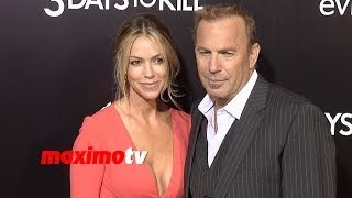 kevin costner and christine baumgartner 3 days to kill los angeles premiere arrivals