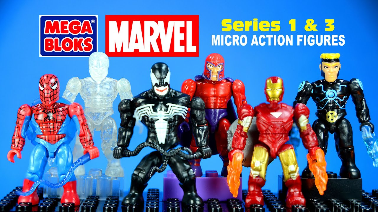 Mega Bloks® Marvel Super-Heroes Micro Action Figures Series 1 & 3 w/  Spiderman & Venom