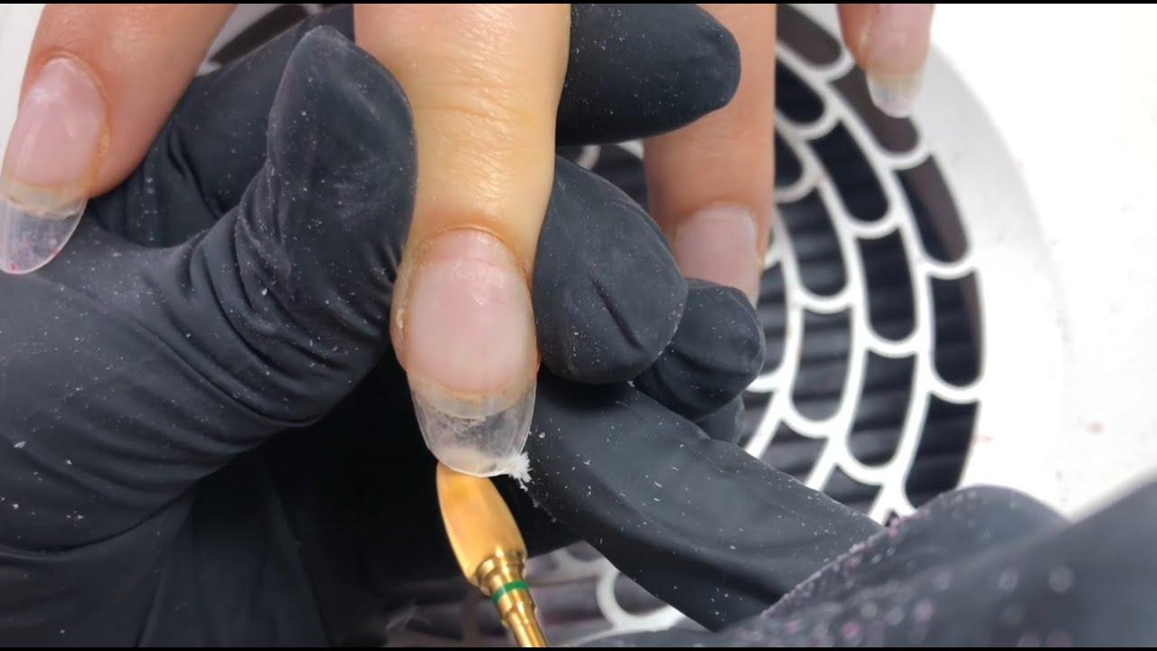 Rubber base diamond nails