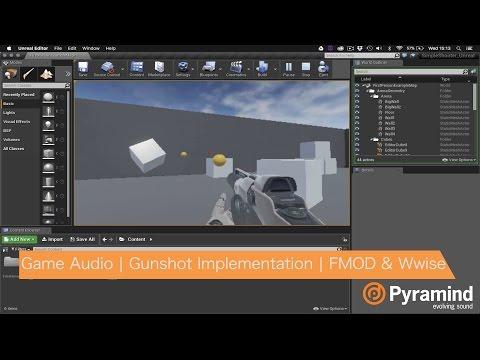 Game Audio | Gunshot Implementation | FMOD & Wwise