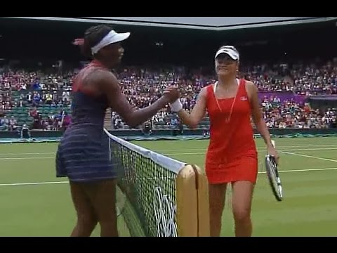 Venus Williams vs Aleksandra Wozniak 2012 London Highlights