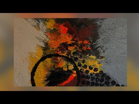 Satisying & Easy Abstract Acrylic Painting Techniques | #StayHome & Paint with Me!