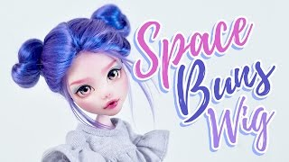 How to Make a Doll Wig | Space Buns | Mozekyto #7