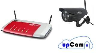 Fritzbox Portweiterleitung und DDNS - IP Kamera Fernzugriff // Beispiel mit upCam Überwachungskamera