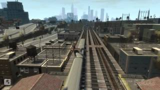 GTA 4 - Аварии, трюки и падения (Stunts and Crashes) #2