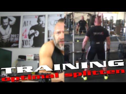 Training optimal splitten