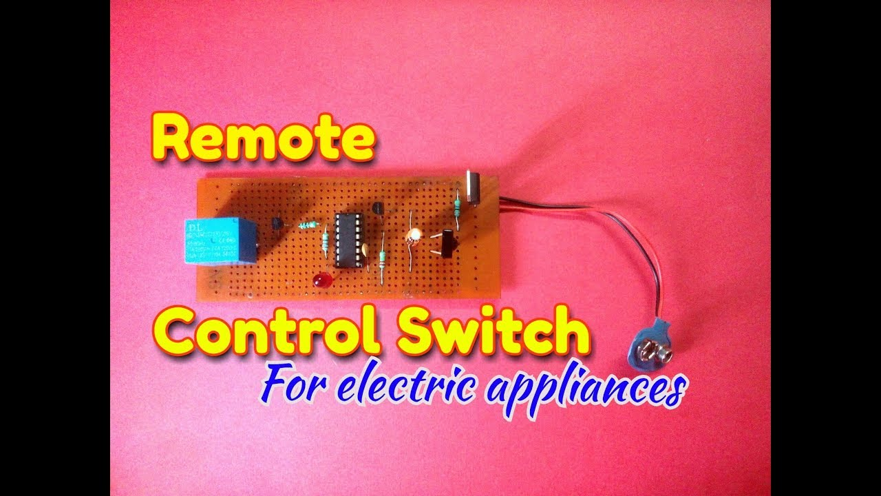 IR Remote Controlled Switch  Simple Remote Control Circuit Diagram Easily  Make IR sensor circuit