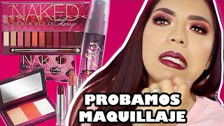 PROBANDO MAQUILLAJE NAKED CHERRY COLLECTION URBAN DECAY (TUTORIAL Y SWATCHES) • BEAUTYBYNENA