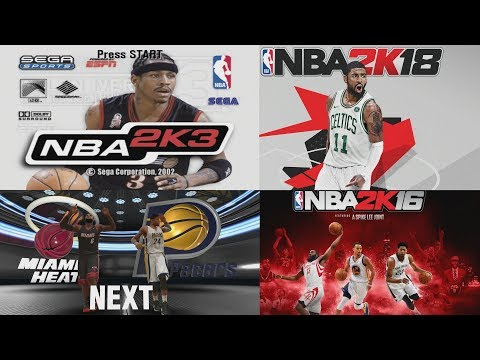 NBA 2K PREGAME THROUGH THE YEARS - NBA 2K2 - NBA 2K18