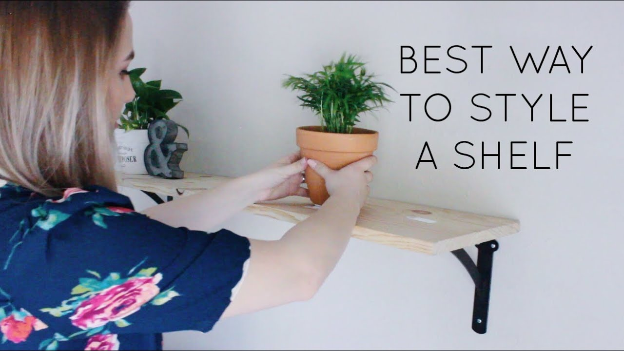 How to style a shelf above your bed megan acuna