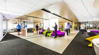 Office interior design for NEC, Wellington replaces reception with an interactive zone