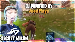 I KILLDE ONE OF THE BEST PLAYERS IN THE WORLD IN FORTNITE! (Secret_Milan)