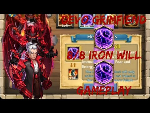 8 Iron Will | Double Evolved | GrimFiend | GamePlay | Castle Clash