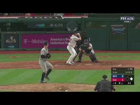 Jay Bruce 2-Run Homerun vs Yankees | Indians vs Yankees Game 1 ALDS