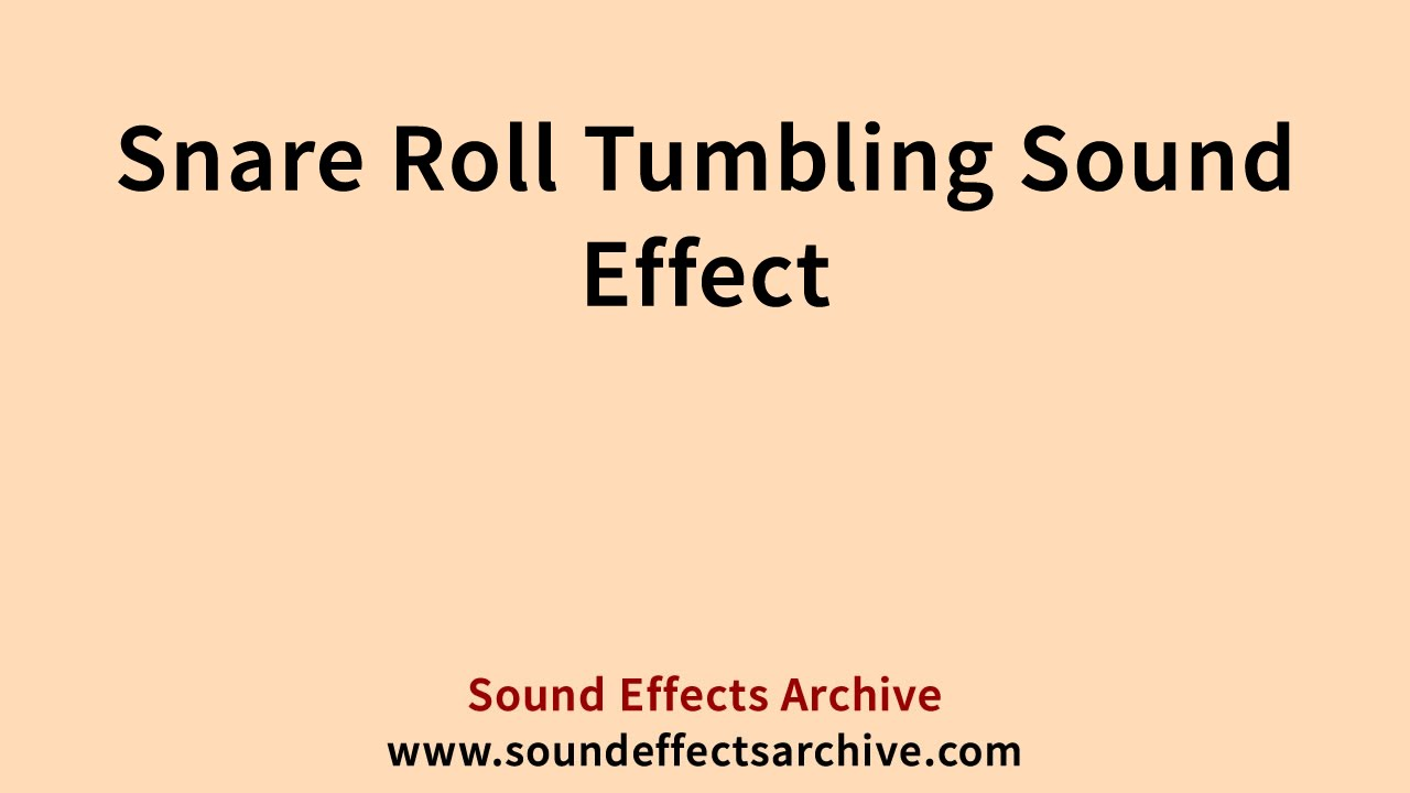 Snare Roll Tumbling Sound Effect - Royalty Free - YouTube