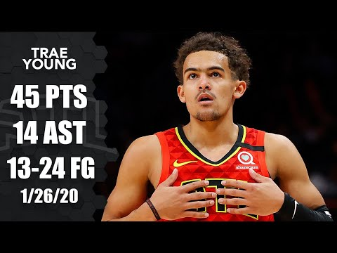 Trae Young honors Kobe Bryant in 45-point performance | 2019-20 NBA Highlights