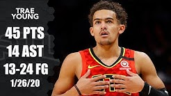 Trae Young honors Kobe Bryant in 45-point performance   2019-20 NBA Highlights