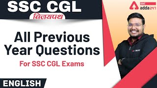 SSC CGL 2021 | English | All Previous Year questions for SSC CGL Exam
