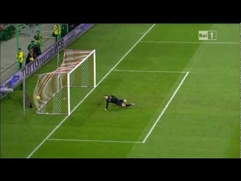Mario Balotelli's first goal for Italy