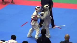 組手 11歳男子-40㎏級(42名) 417VS418阿部文哉 http://kyokushin-shiga...