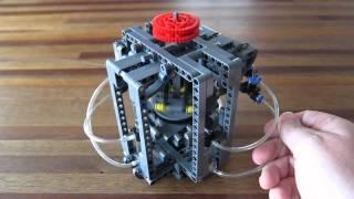 Lego Pneumatic Engine - Axial 4 (swashplate)