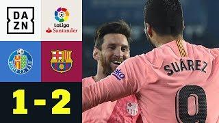 El Pistolero Luis Suarez per Super-Volley: Getafe - FC Barcelona 1:2 | LaLiga | DAZN Highlights