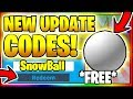 All new secret op working codes snowball madness area update roblox unboxing simulator mp3 indir