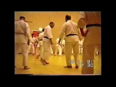 Karate Training with Terry O'Neill 1991. Graham Chilvers, Bob Davies, Dave Owen and Biff Shaw