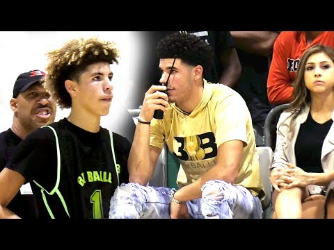 Thumbnail: Lavar Told Melo Stop Being STUPID! LaMelo Drops 45 w/ 39 Shots VS College Bound Athletes!