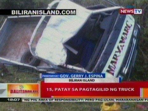 BT: 15, patay sa pagtagilid ng truck sa Biliran Island