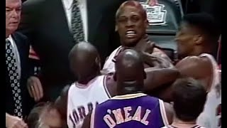 Shaquille O'Neal vs Dennis Rodman Heated Moments Comp