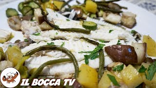 504 - Rombo al forno con verdure..e ti levi le paure! (secondo di pesce facile, delicato e leggero)