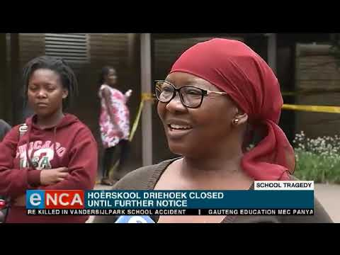 One pupil has been identified after a structure collapsed at Hoërskool Driehoek
