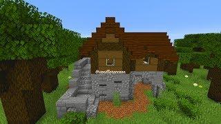 Medieval Survival House | Minecraft 1.14 Dark Oak Forest Biome Based Let's Build