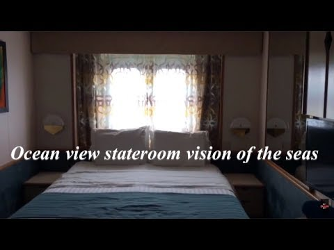 Vision of the seas cruise ship large ocean view stateroom 2024 G1 / 2017 HD