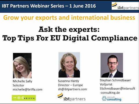 Webinar: Top Tips for EU Digital Compliance