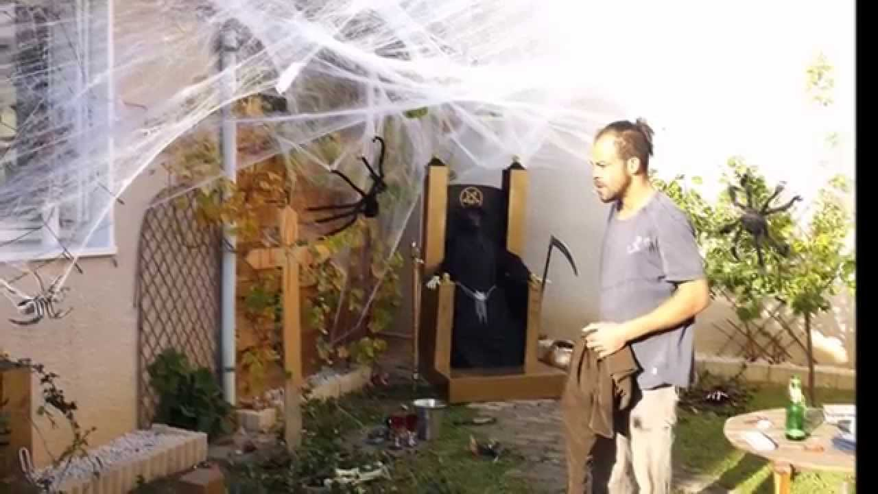 D co halloween babou et ludo 2014 youtube for Decoration exterieur halloween
