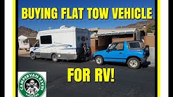 BUYING A FLAT TOW VEHICLE TO PULL BEHIND RV