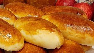 Воздушные Пирожки с яблоками. Вкусные Пирожки в духовке с яблочной начинкой