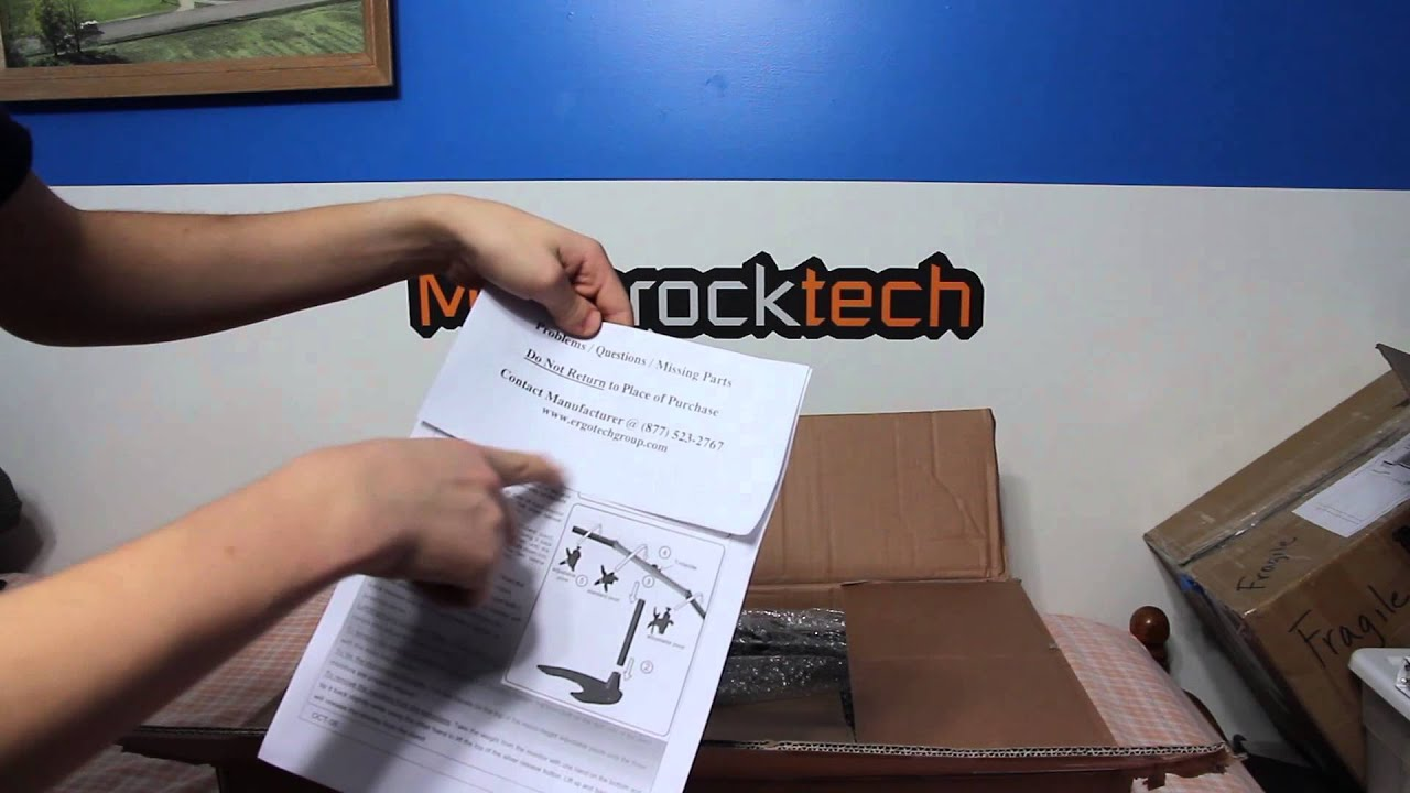Ergotech Triple Horizontal Lcd Monitor Arm Desk Stand Unboxing Youtube