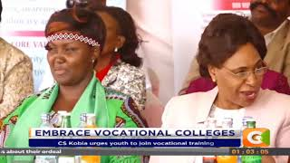CS Kobia urges youth to vocational training
