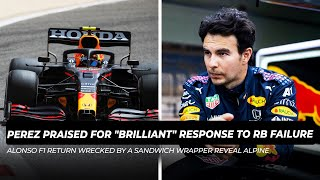 "Sergio Perez praised for ""brilliant"" 'laptop' response to Red Bull failure 