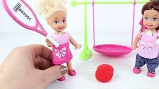 Masha Ve Bebek Çek Çek Oyun Parkında Barbie Evcilik Çizgi Filmler