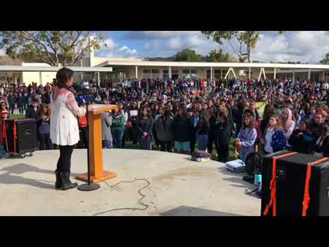 Buena High School Walk Out Speaker Celeste Rodrigues