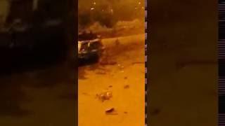 فيديو.. انفجار سيارة مفخخة يهز منطقة التجمع الخامس