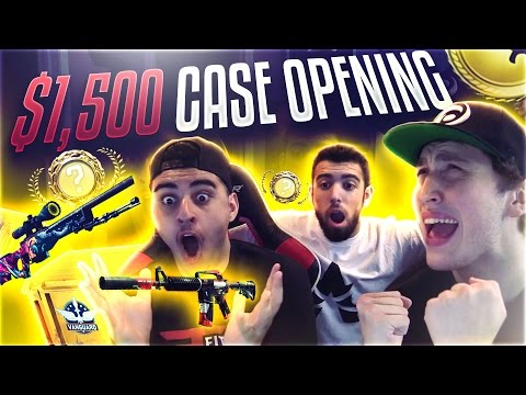 $1,500 CS:GO CASE OPENING (BLUE GEM KNIFE)